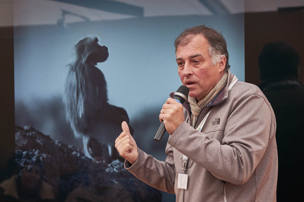 Wildlife photo conference at the international nature Show of Montier-en-Der in France.