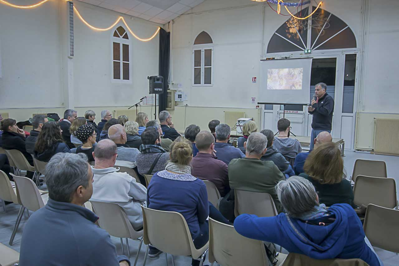 Underwater photo conference in Talence in December 2017.