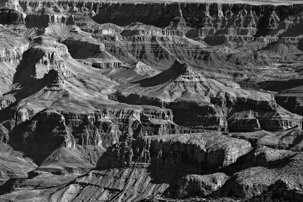 Projet de photographies de paysages au Grand Canyon en Arizona aux Etats-Unis