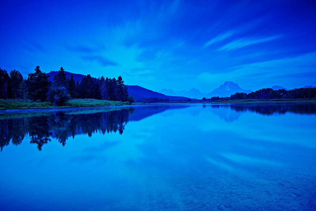 Landscape photo project in Grand Teton in Wyoming in United States.