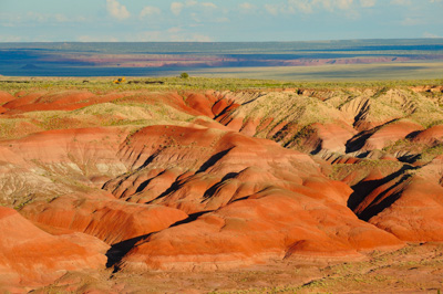 Landscapes of Petrified Forest. Photographs by Amar and Isabelle Guillen.