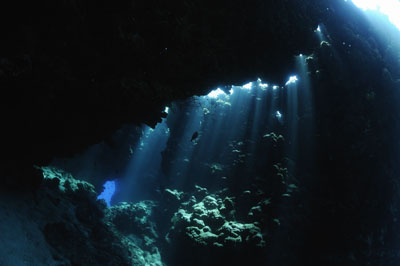 Cave of Shaab Claudio in the Red Sea. Photographs by Isabelle and Amar Guillen.
