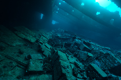 The wreck of Krisoula K. in the Red Sea. Photographs by Isabelle and Amar Guillen.
