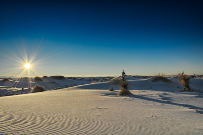 Photographs of the White Sand Dunes desert in New Mexico, USA.