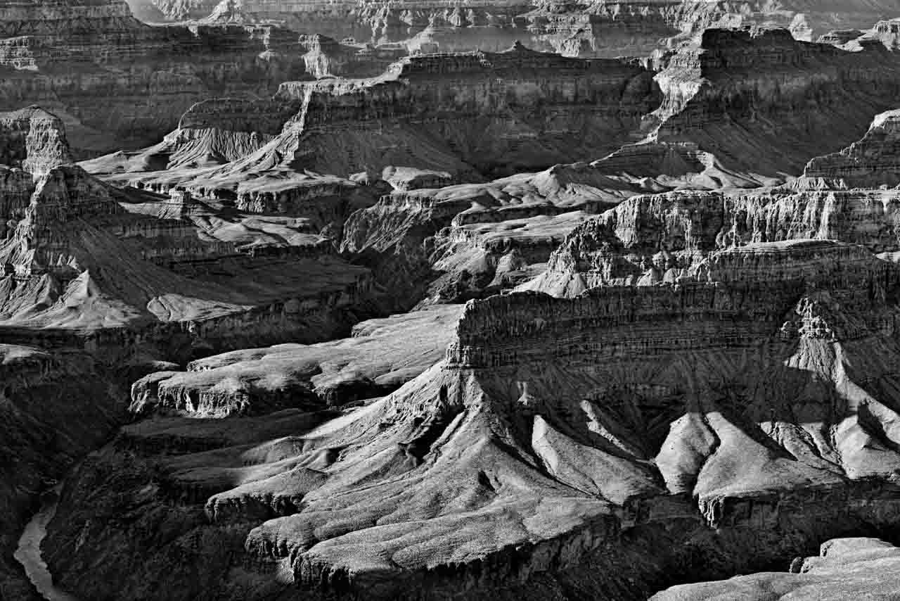 This photograph of the Grand Canyon in Arizona is an example of a photograph with rhythm.