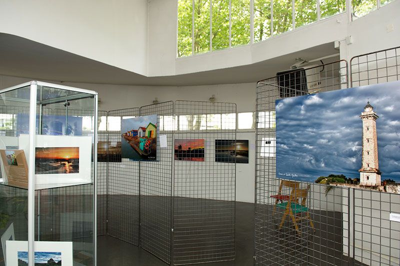 photo exhibition in Royan, France. Gallery of Cours de l'Europe