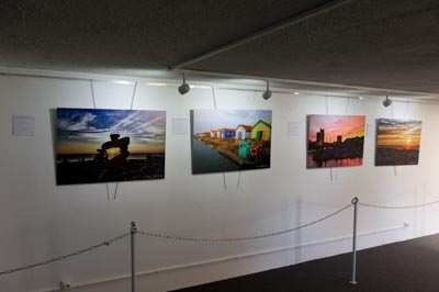 Exhibition Lights and Colors of the coast of Charente-Maritime in the Gallery DS Souchon in Royan. Photographs by Isabelle and Amar Guillen.