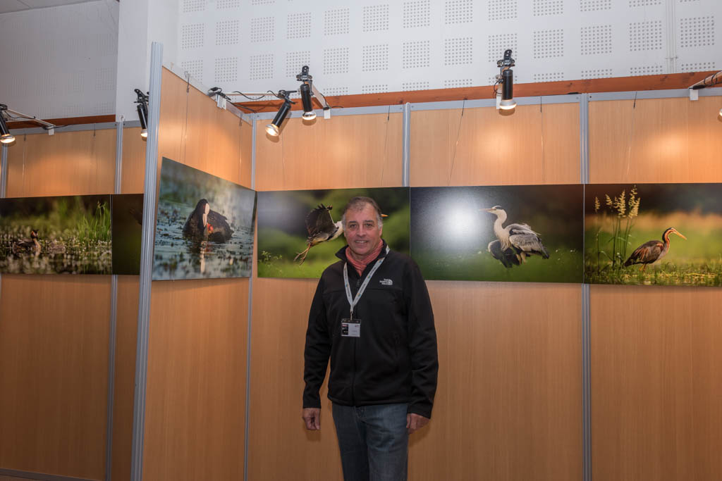 Amar Guillen, at the opening day of the exhibition at the Montier-en-Der festival.