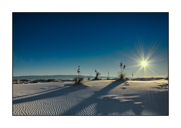 Sunrise on the whites dunes