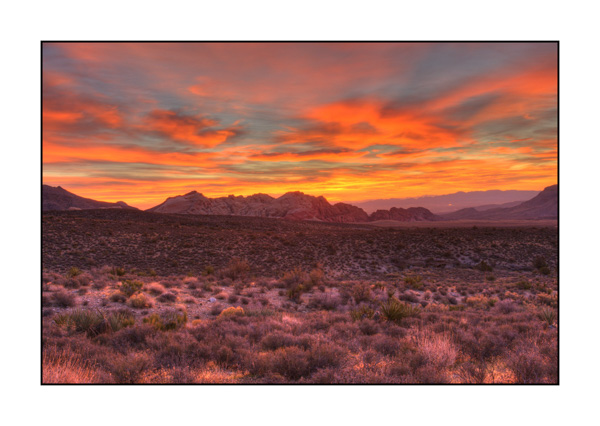 Dawn on Red Rock Canyon III.
