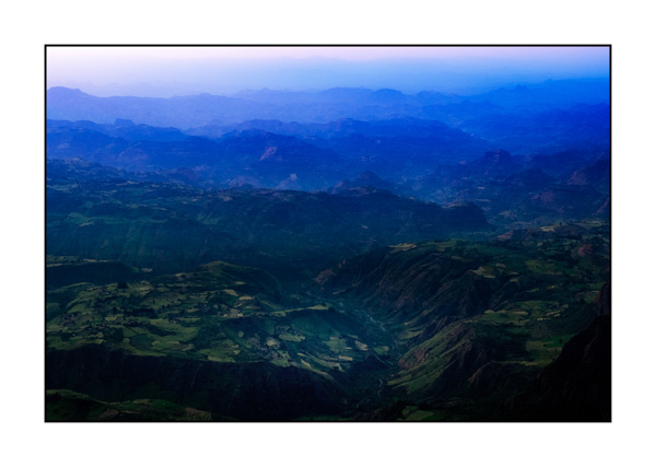 Simien Mountains in Ethiopia in color.