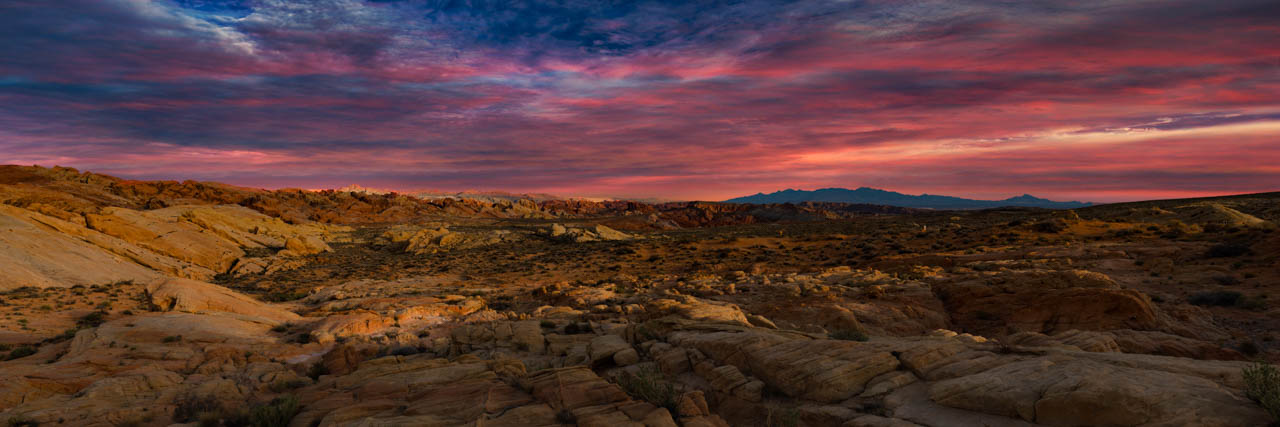 Lanscape in color Valley of Fire in Nevada in United States. Photograph by Amar Guillen, photographer artist.