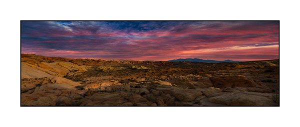 Landscape of Valley of Fire in Nevada in United States. Photograph in color by Amar Guillen, photographer artist.