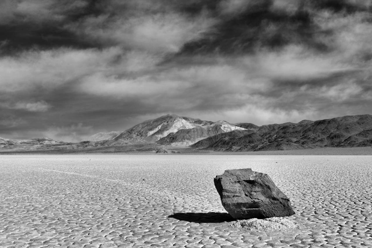 Sailing rocks in Death Valley, California, United States. Photograph by Amar Guillen, photographer artist.