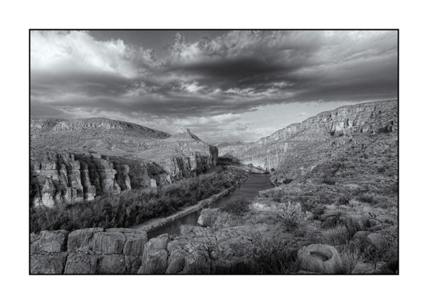 Big Bend au Texas BW II