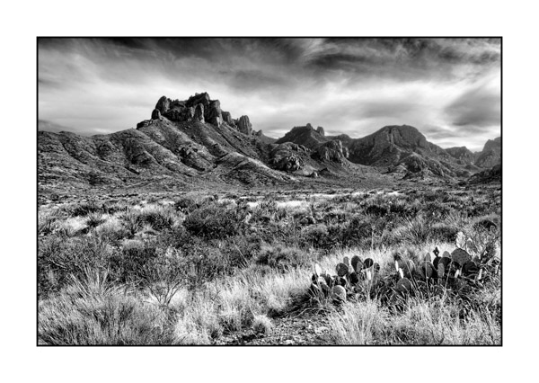 Big Bend au Texas BW IV