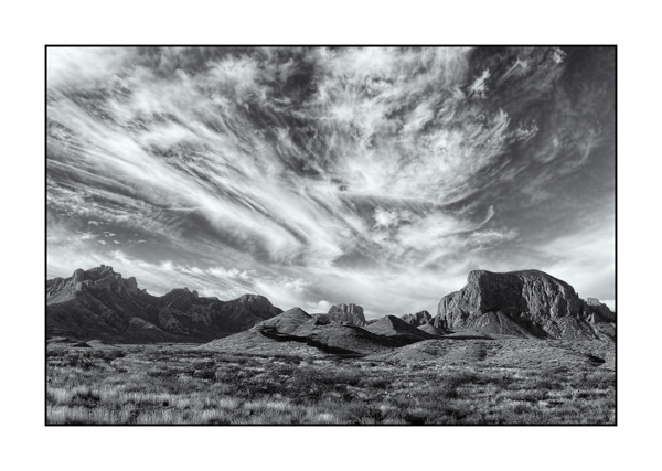 Big Bend au Texas BW V