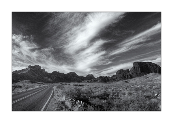 Big Bend au Texas BW VI