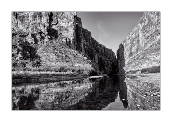 Big Bend in Texas BW VII