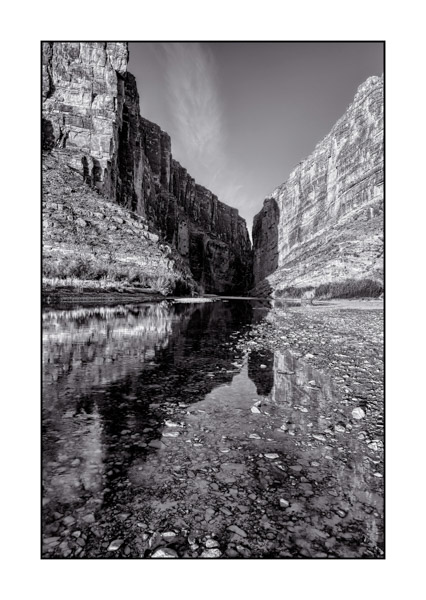 Big Bend au Texas BW VIII