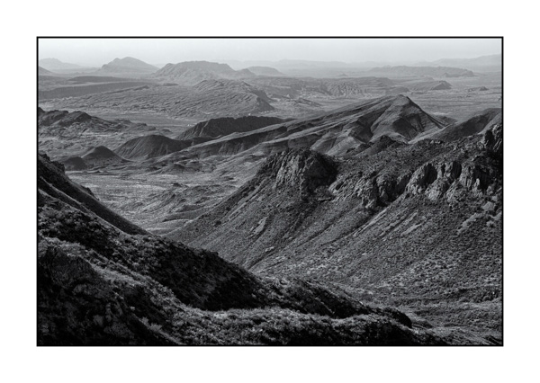 Big Bend in Texas BW IX