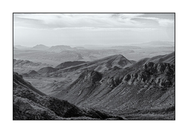Big Bend au Texas BW X