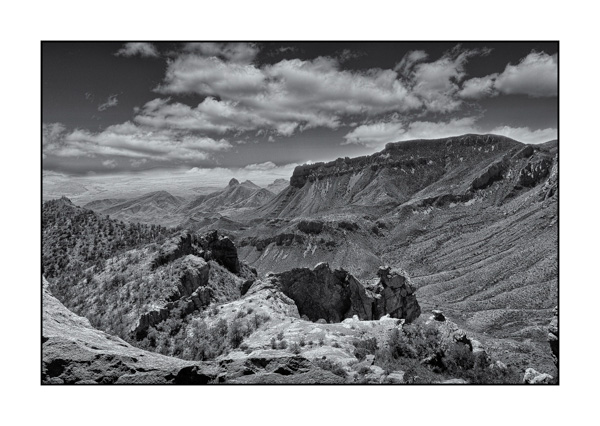 Big Bend au Texas BW XI