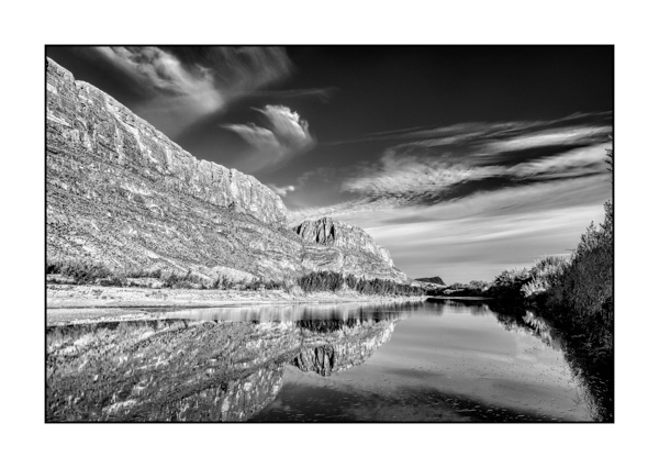 Big Bend au Texas BW XII