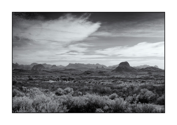 Big Bend au Texas BW XIII