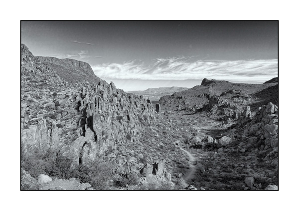 Big Bend in Texas BW XIV