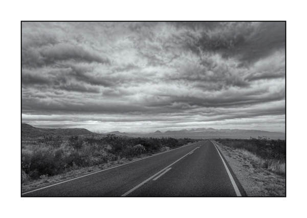 Big Bend au Texas BW XV