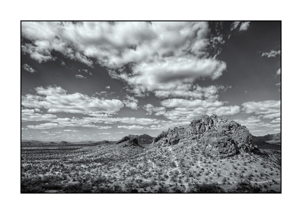 Big Bend au Texas BW XVII