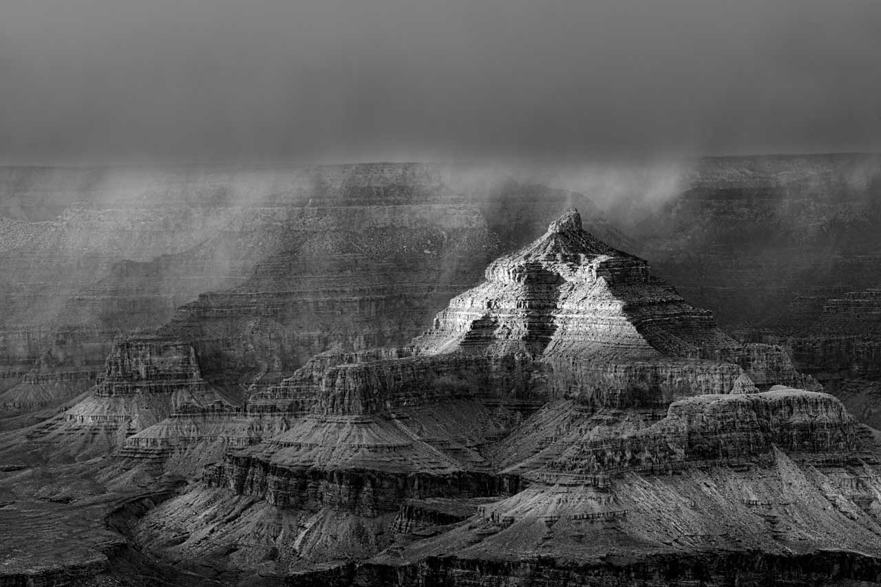 Storm over the Grand Canyon in Arizona, United States. Photograph by Amar Guillen, photographer artist.