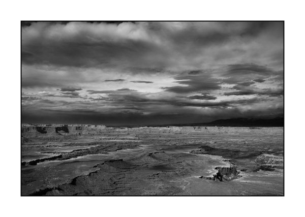Landscape of Canyonlands, Island in the Sky, in Black and White