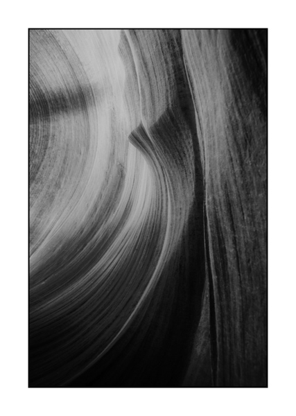Lower Antelope Canyon. Photograph in Black and White by Amar Guillen, Photographer Artist.