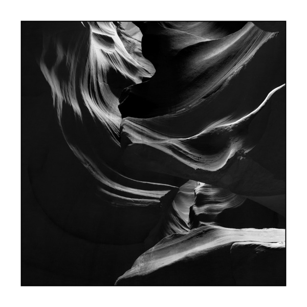 Upper Antelope Canyon. Photograph in Black and White by Amar Guillen, Photographer Artist.