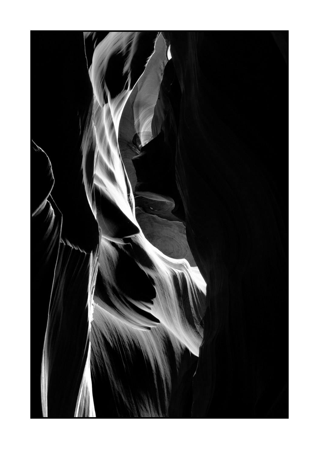 Black and White Wall Decor Antelope Canyon Canyon Art Poster Landscape Photography Wall Art Abstract Landscape Print Fine Art Print