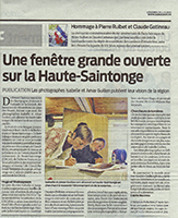Press article of the book Reflection of Sainte-Saintonge
