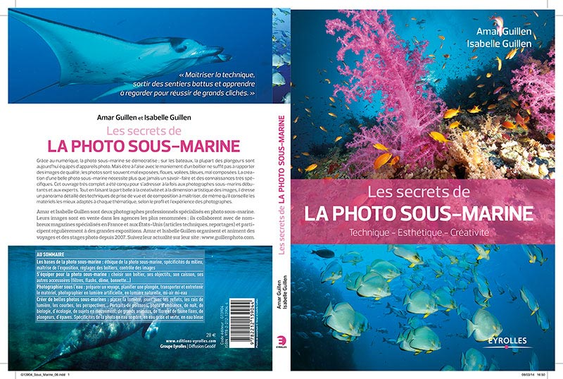 "The book ""The secrets of underwater photography"""