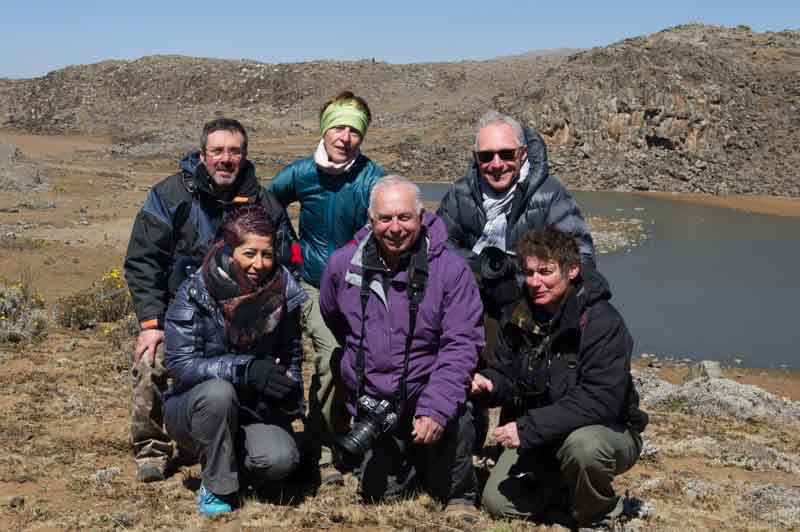 The participants of the photo workshop in Ethiopia: Philippe, Agnes, Isabelle, Henri, Patricia et Andrew