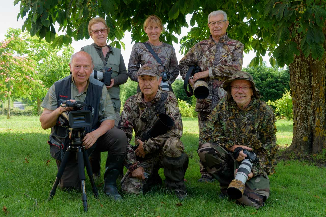 Participants of the wildlife photo workshop in Charente-Maritime in July 2018: Jean-Pierre, Nelly, Germain, Christiane, Guy and Yves.