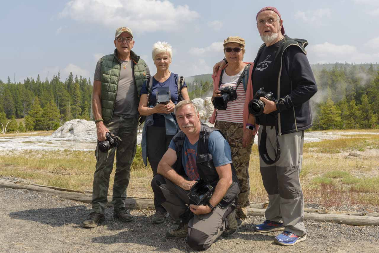 Participants in the photo workshop in Yellowstone in August 2018: Patrick, Pascale, Philippe, Josiane and Daniel.