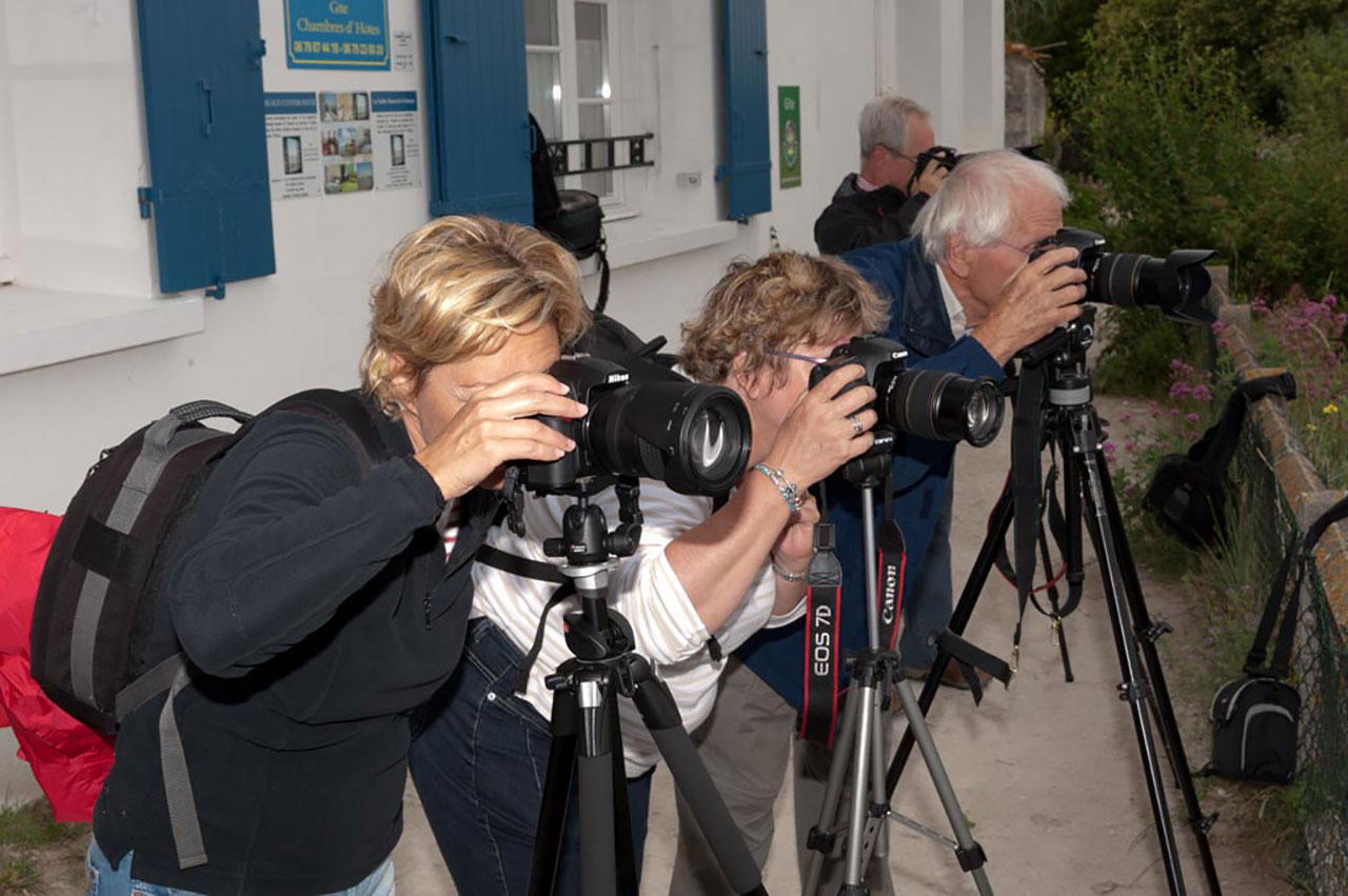A Group of Photographers during a Landscape photo Workshop.