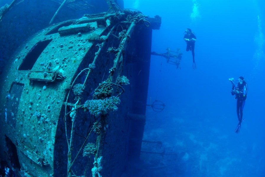 Wreck of Salem Express in Safaga Red Sea in Egypt by Amar Guille