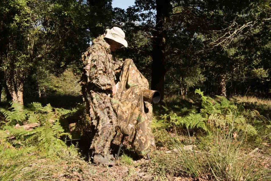 Using a cloth camera blind for rut of the deer by Amar Guillen,