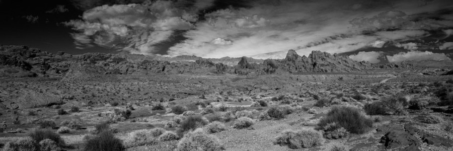 07 paysage de valley fire nevada en noir et blanc amar guillen photographe